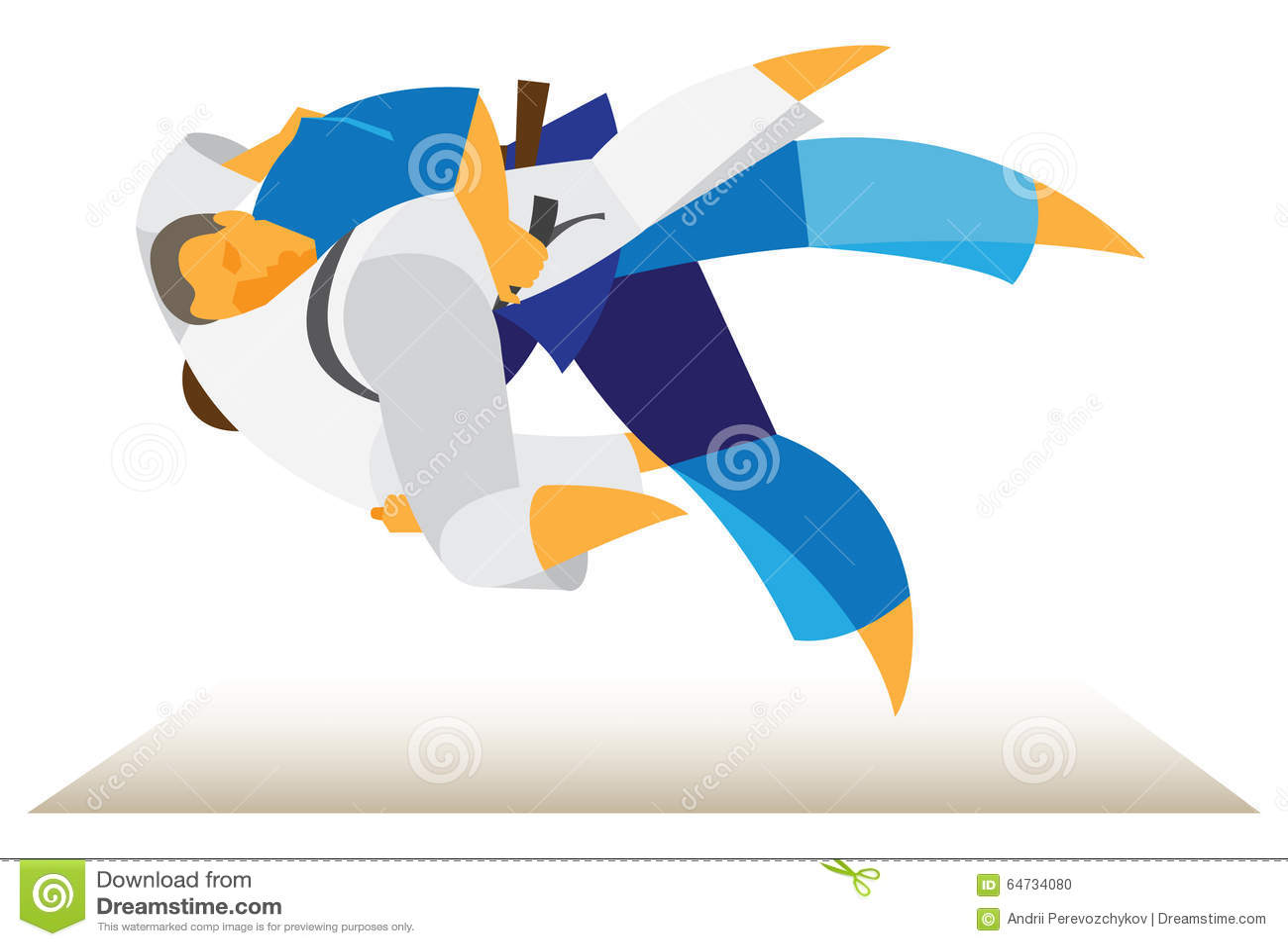 Torneo di judo i lottatori eseguono i trucchi