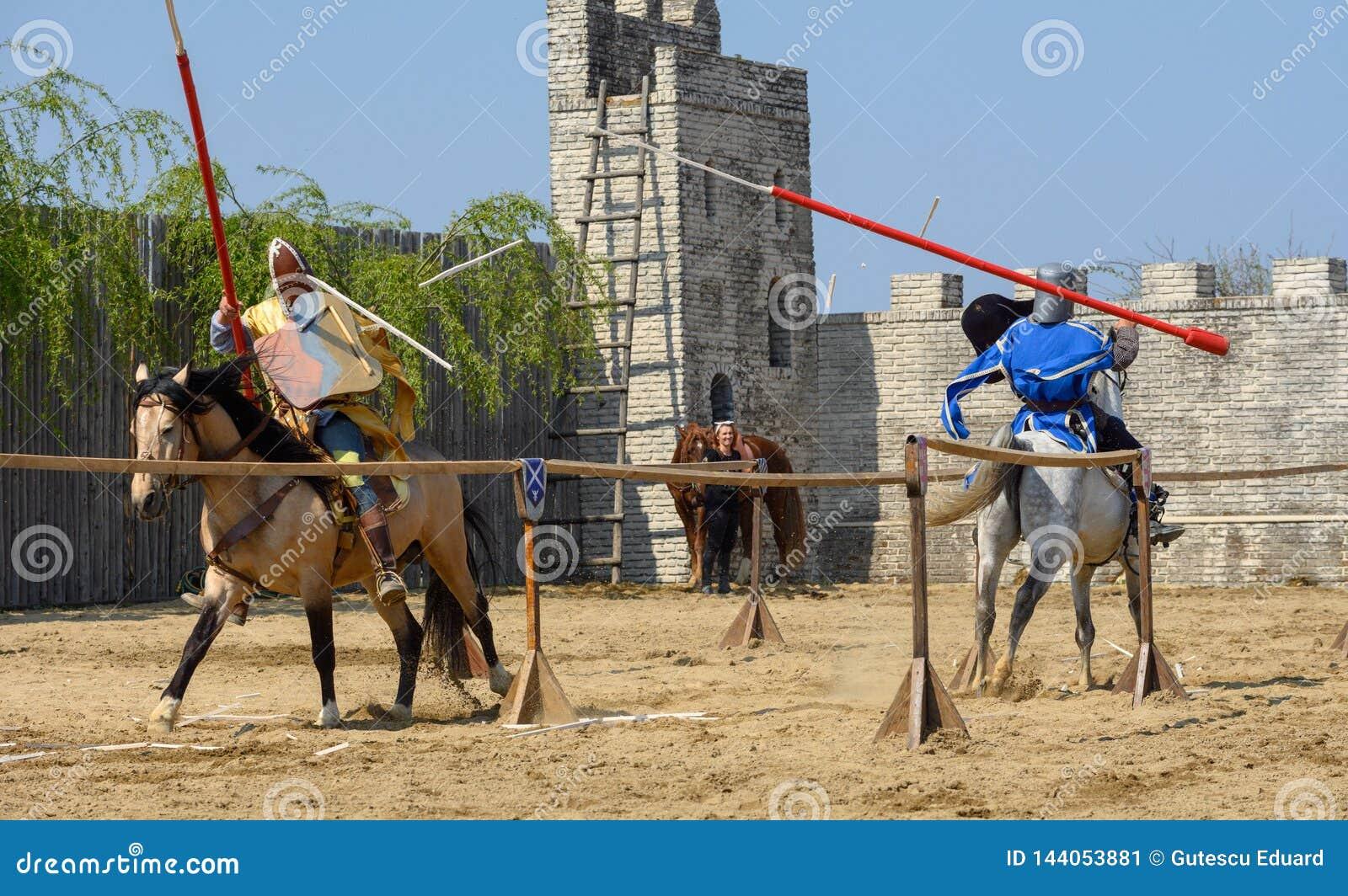 Torneo medieval de los caballeros de Transilvania en Rumania