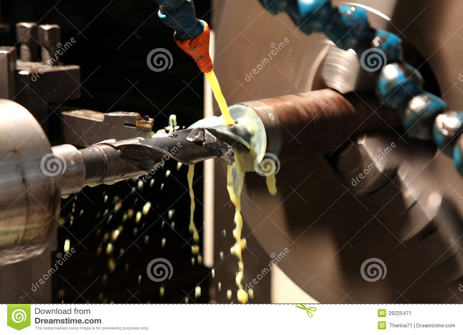 Download Torno imagem de stock. Imagem de metal, desperdício, recycle - 29225471