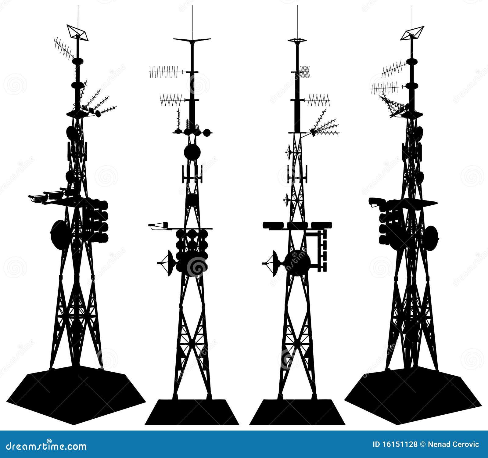 Tornvektor för 01 telekommunikationar