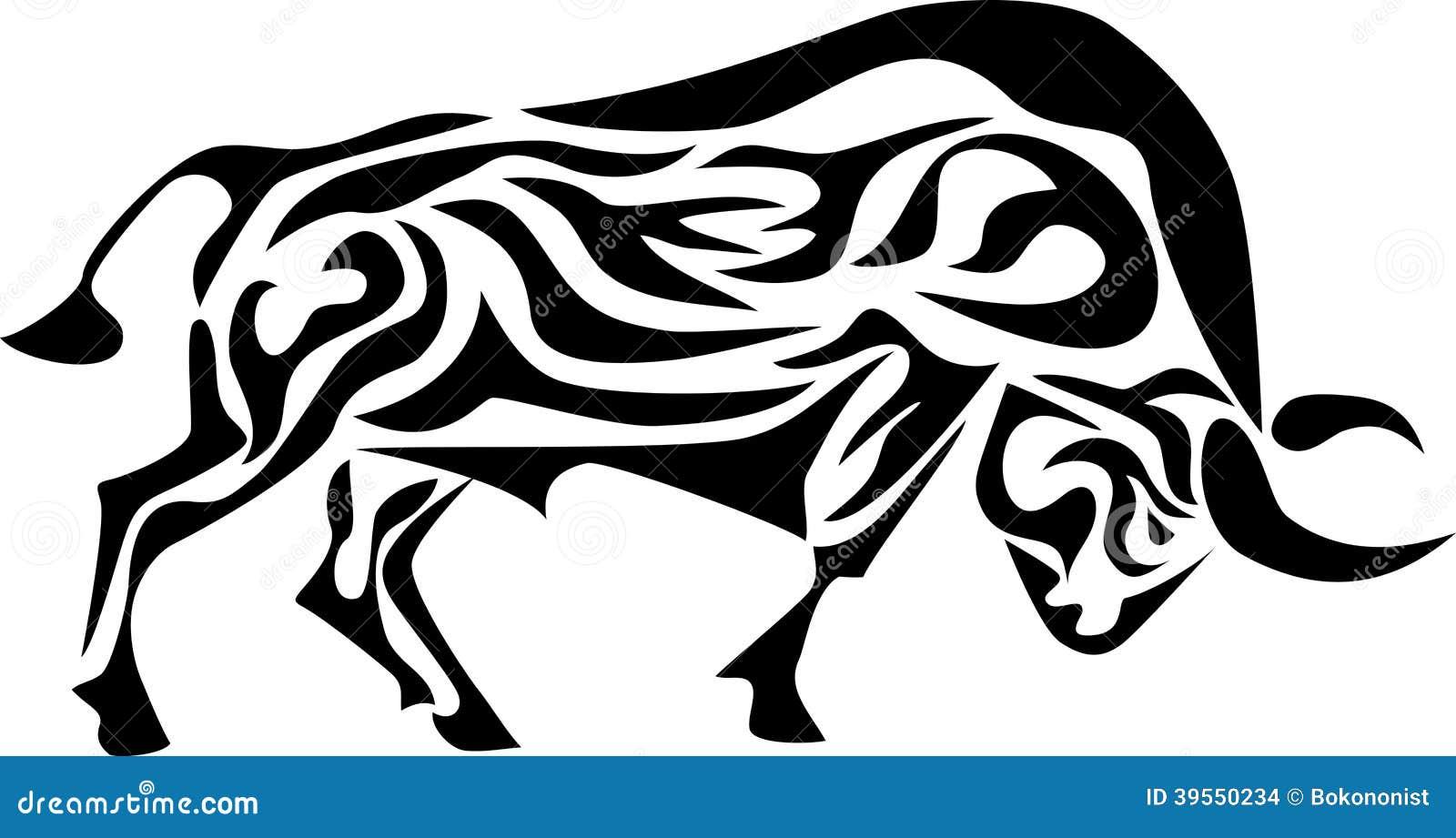 Toro tribale illustrazione vettoriale. Illustrazione di ...