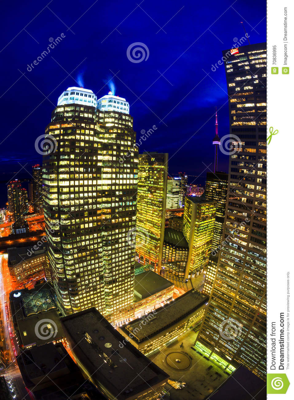 a description of tall stories the skyline of downtown toronto Location: downtown toronto posts: 2,878 quote: and if by the core you mean the part of downtown where most of the tall buildings are clustered (lake to bloor, university to jarvis) then that's a different story.