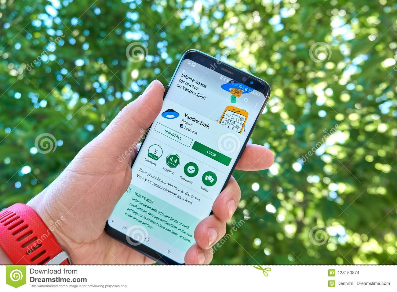 Yandex Disk Mobile App On Samsung S8  Editorial Stock Image - Image