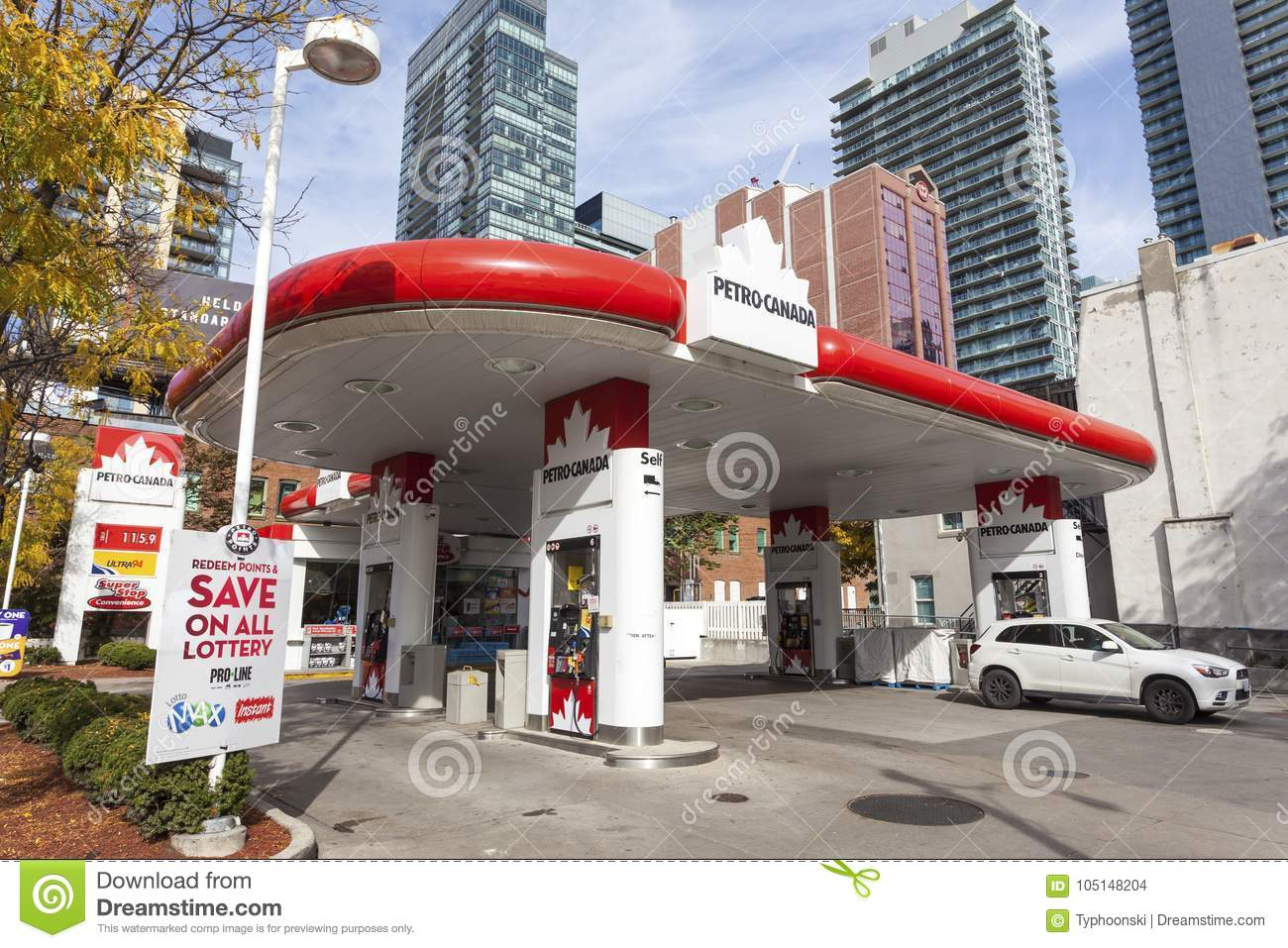 Petro Canada petrol station in Toronto