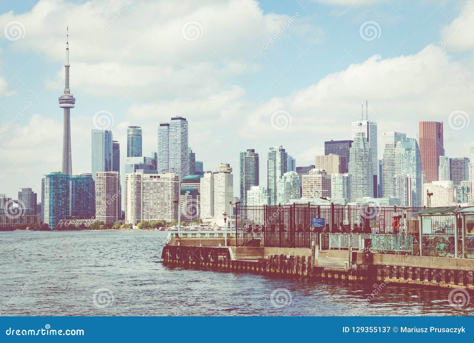 TORONTO, CANADA - SEPTEMBER 19, 2018: Beautiful Toronto`s skylin