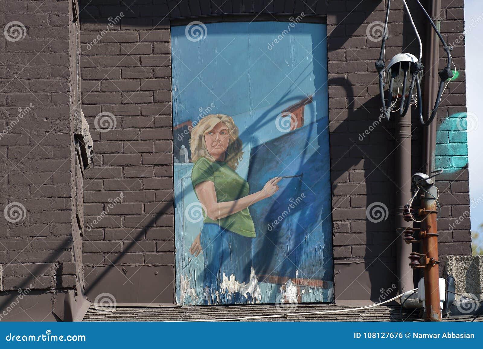 Toronto för väggmålning spadaina 2016