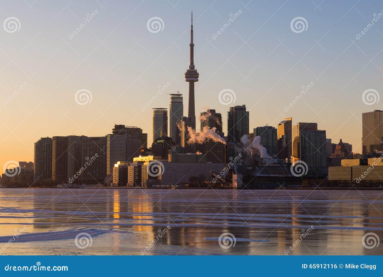 Toronto horisont i vintermånaderna