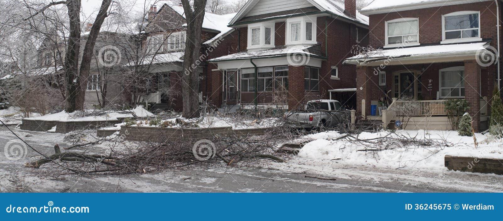 Toronto lodowa burza