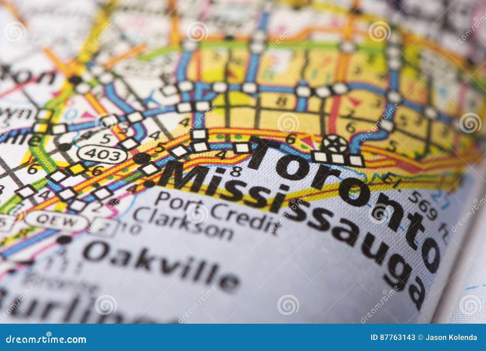 Toronto Ontario On Map Stock Image Image Of Tourism 87763143