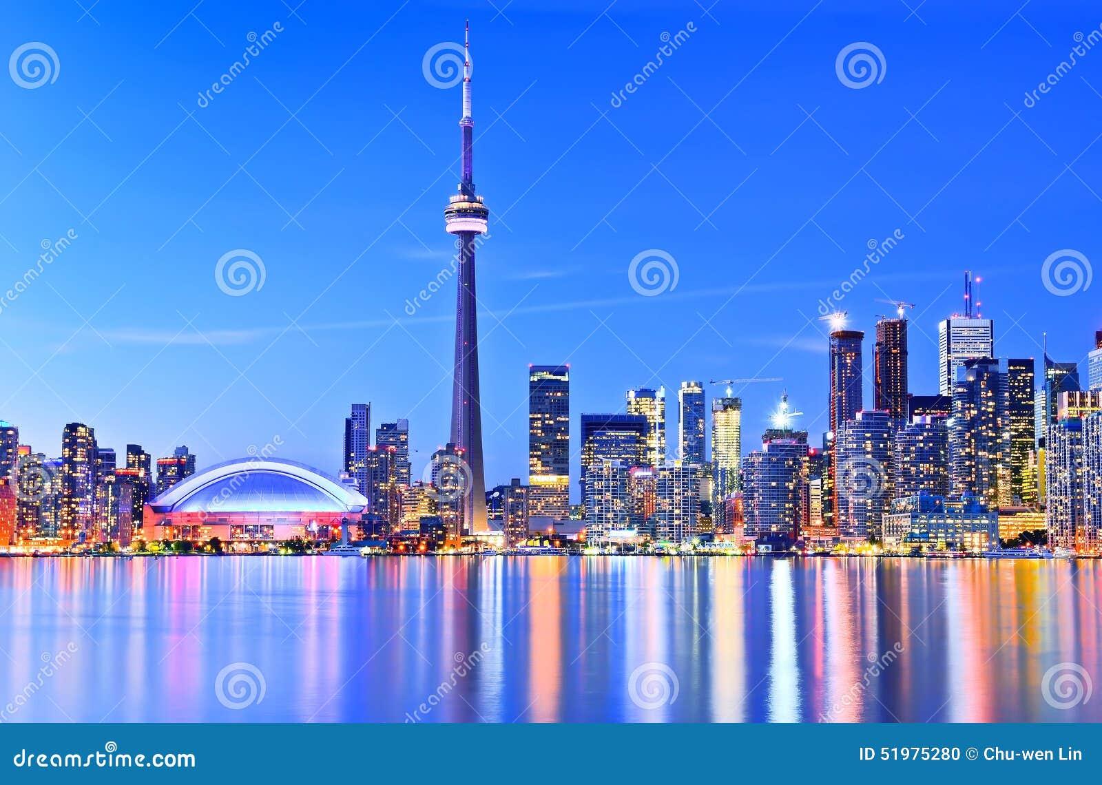 Toronto skyline in Ontario, Canada.