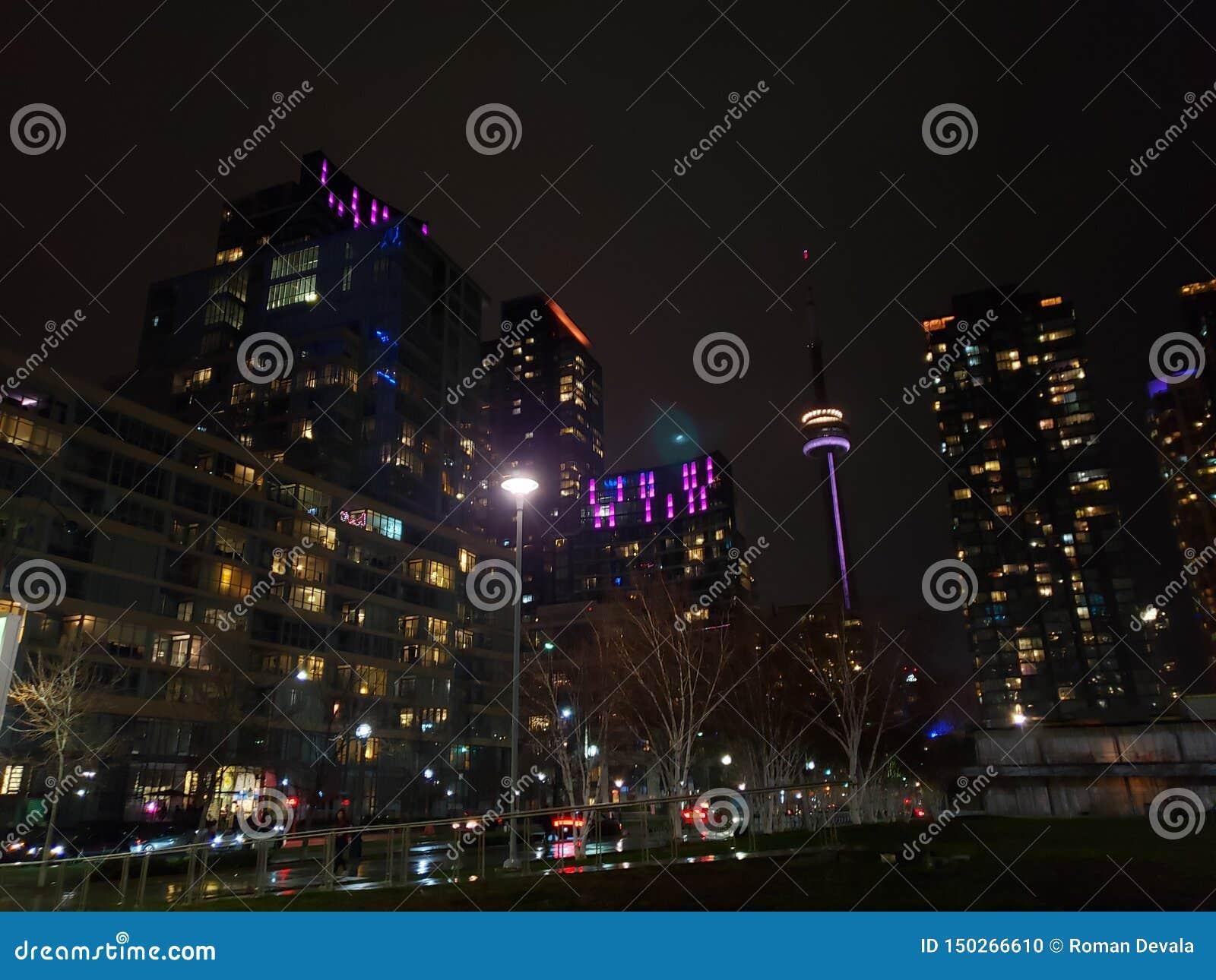 Toronto& x27; vista nocturna de s