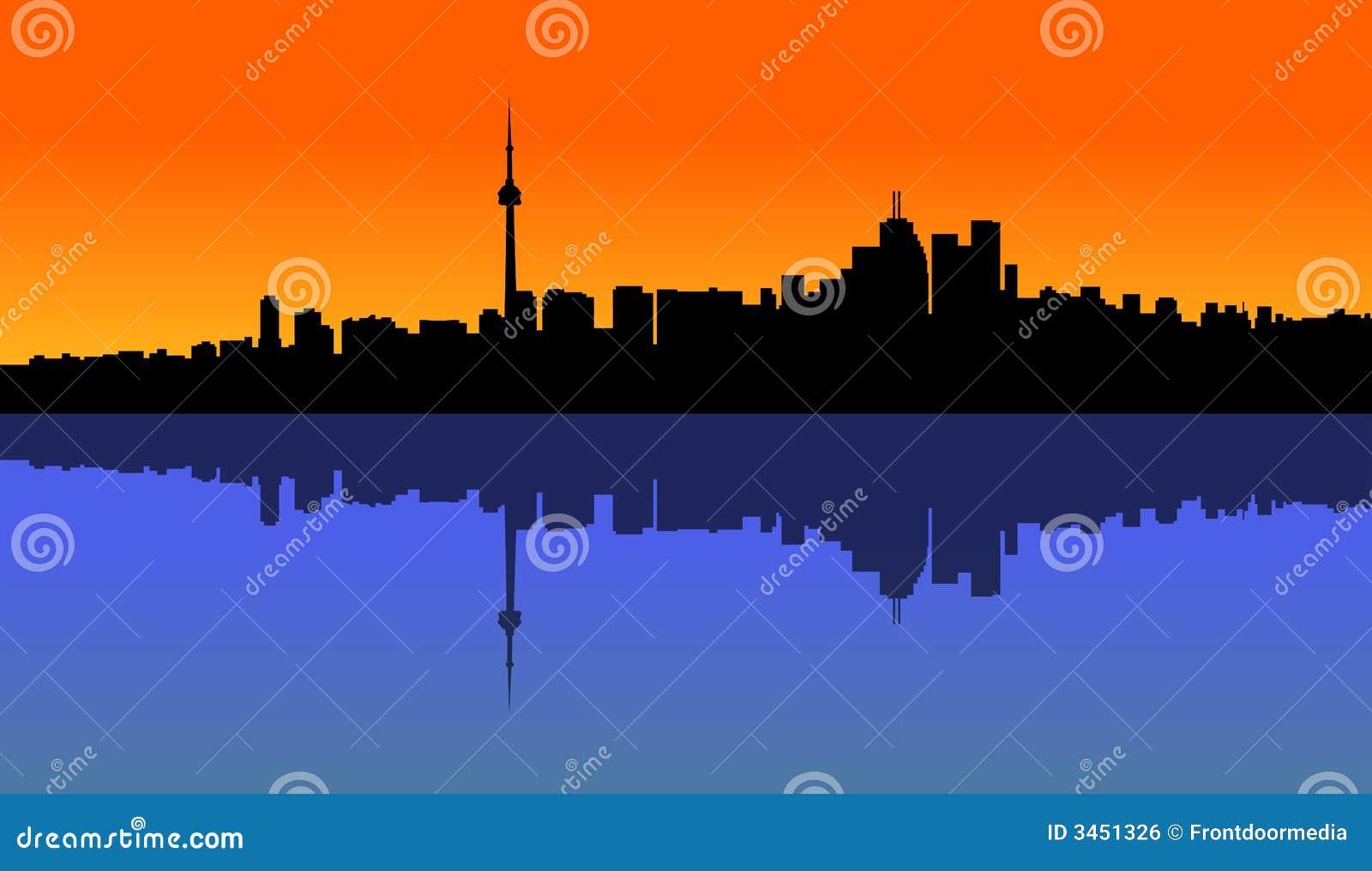 Toronto, zachód słońca