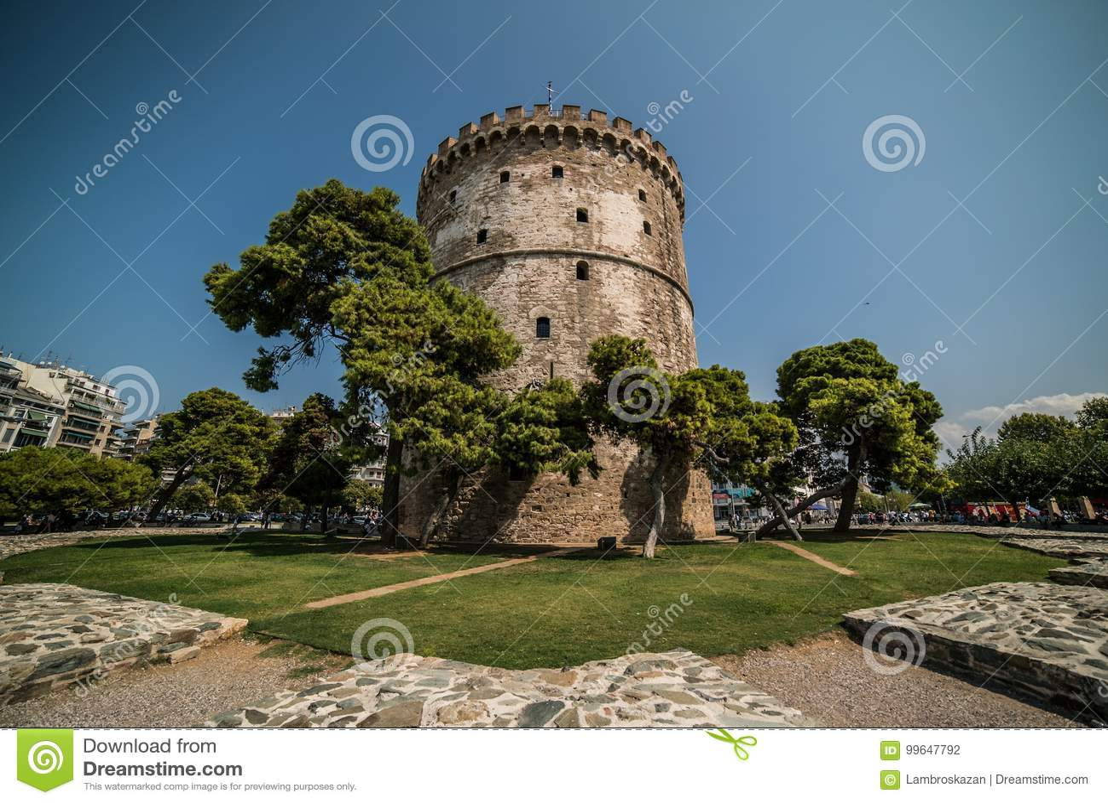 Torre blanca de Salónica, Grecia - d3ia con el Le granangular