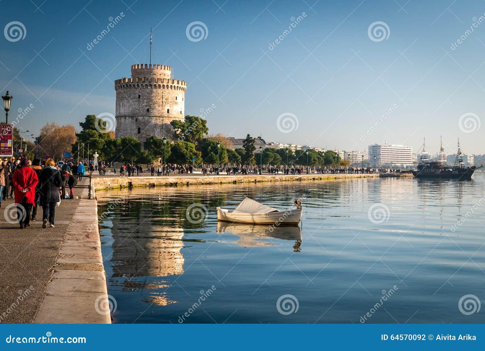 A torre branca, cidade de Tessalónica, Grécia