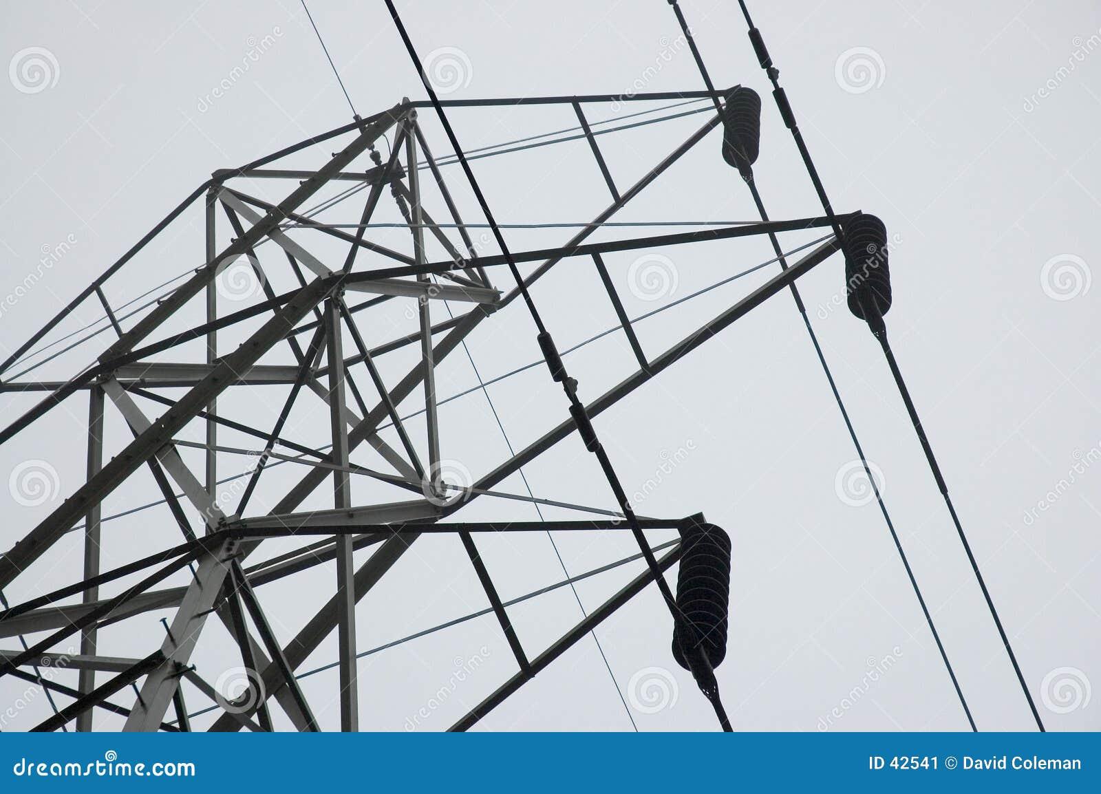 Download Torre con los alambres imagen de archivo. Imagen de cables - 42541