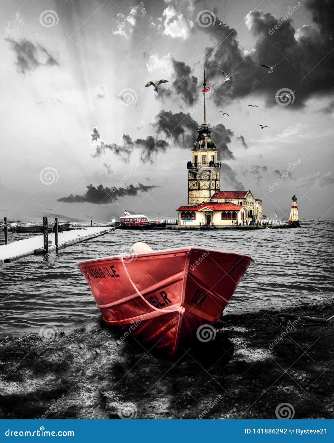 A torre da donzela em Istambul Turquia