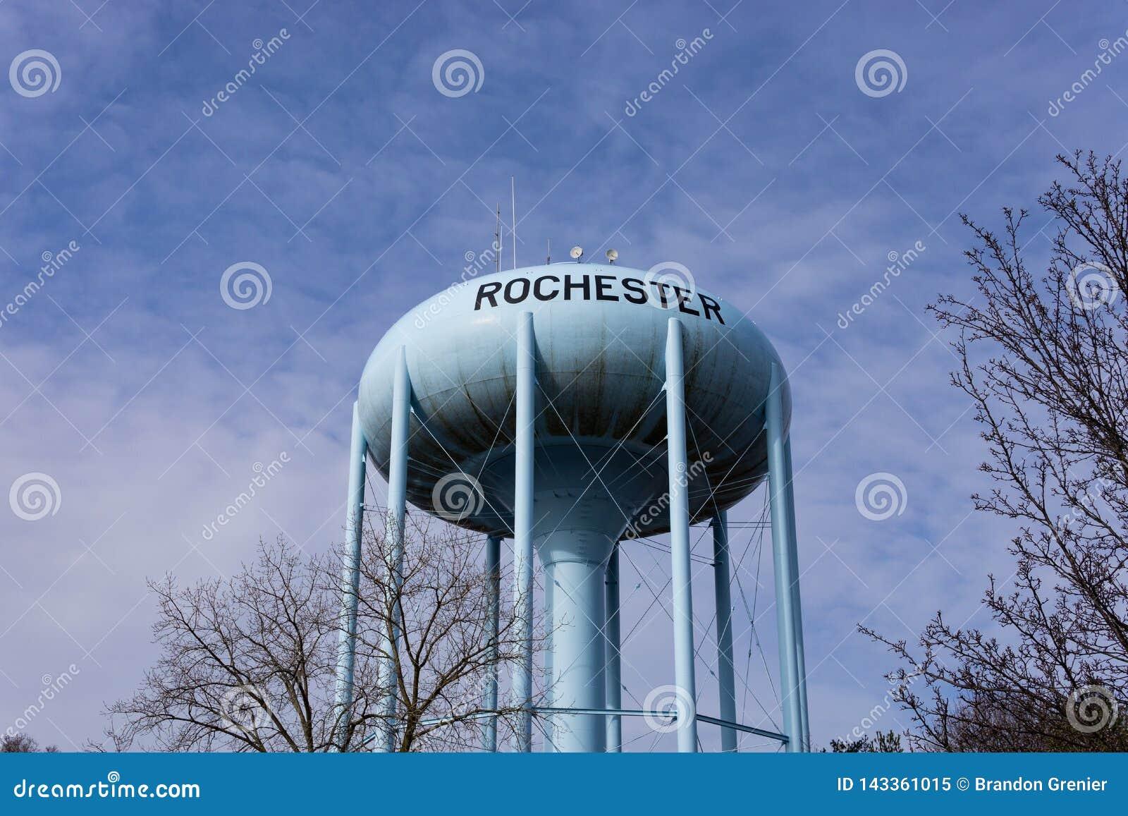 Torre de agua en Rochester Michigan