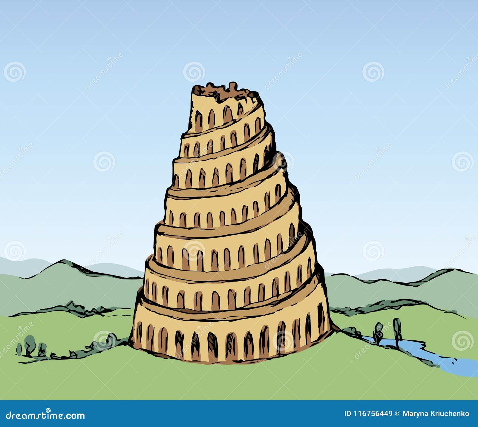 Torre De Babel Desenho Do Vetor Ilustracao Do Vetor Ilustracao