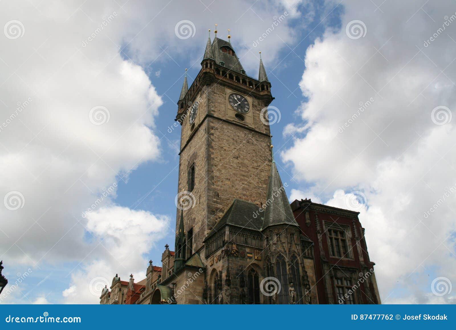 Torre de pulso de disparo astronômica de Praga