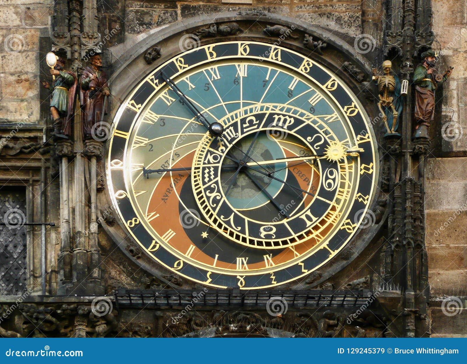 Torre de pulso de disparo astrológica, quadrado velho da torre, Praga, República Checa