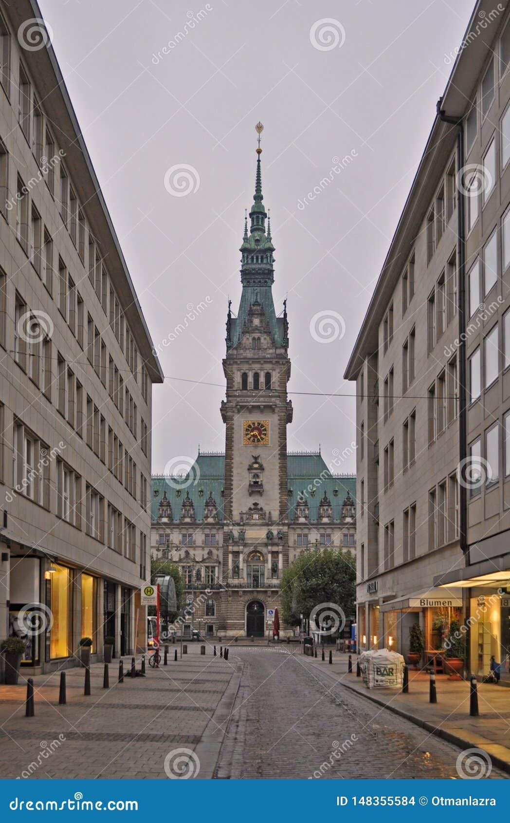 Torre de Rathaus ayuntamiento Hamburgo