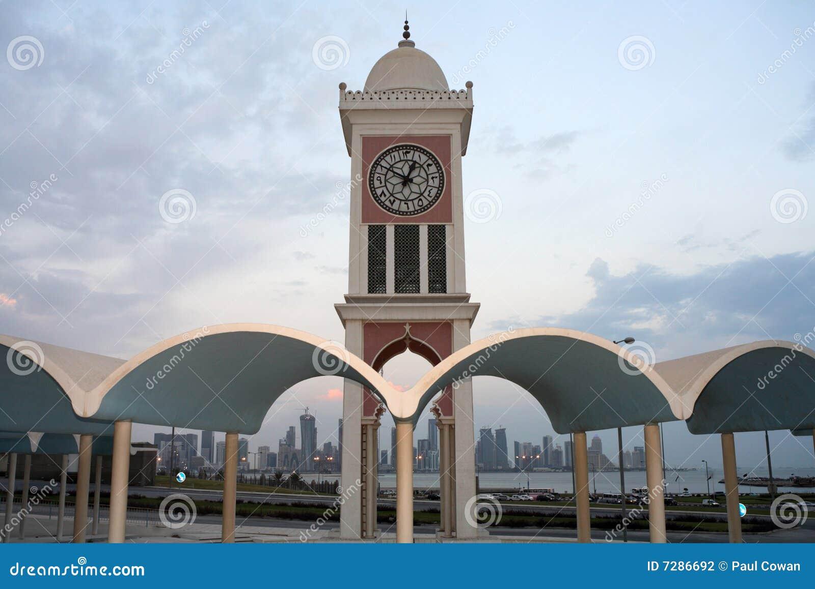 Torre de reloj de Doha y nuevo districto