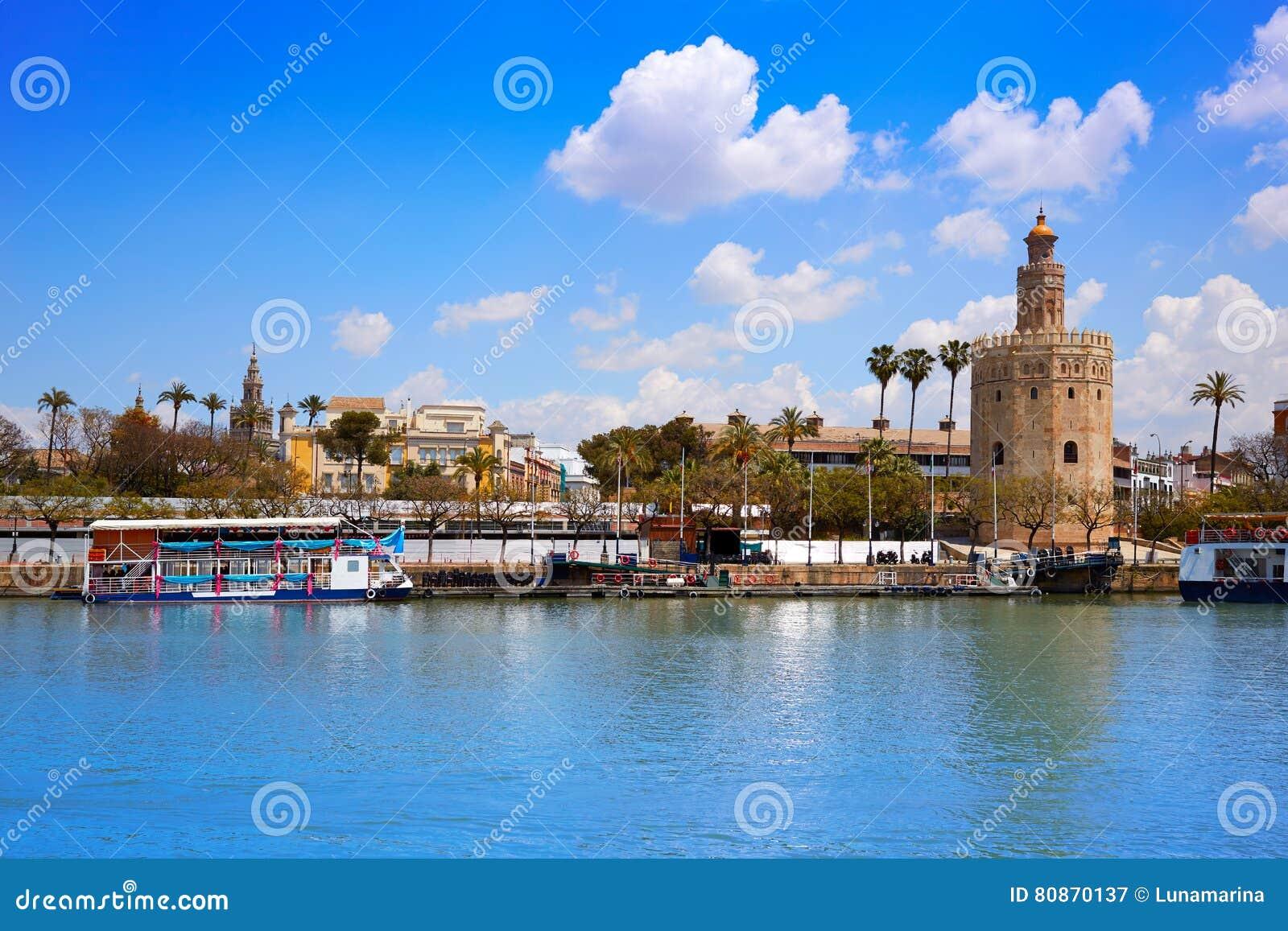 Torre de Sevilha Torre del Oro em Sevilla Andalusia