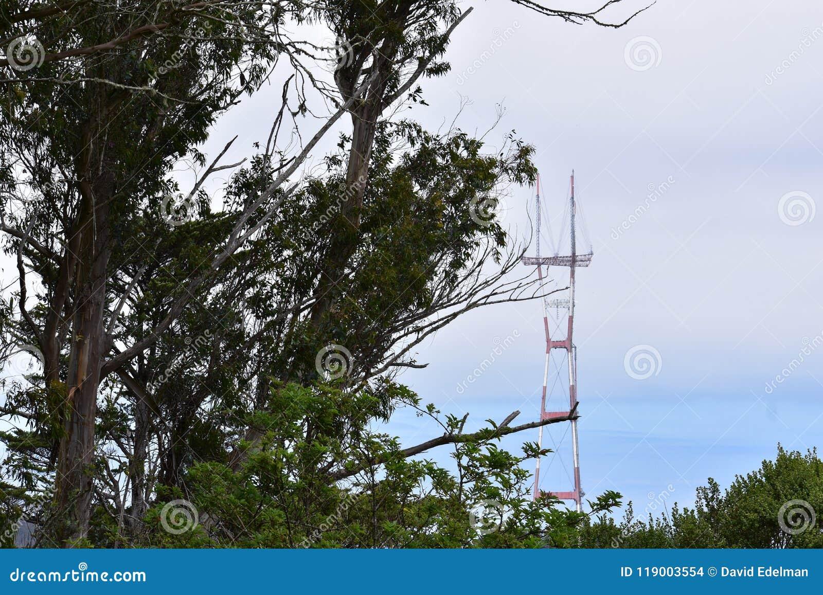 Torre de Sutro como visto de Mt Davidson San Francisco, 9