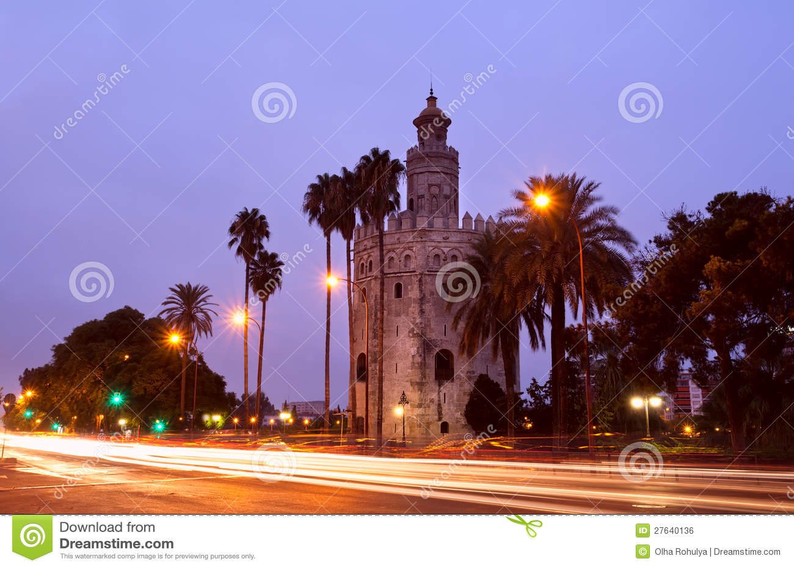 Torre del Oro在塞维利亚,西班牙