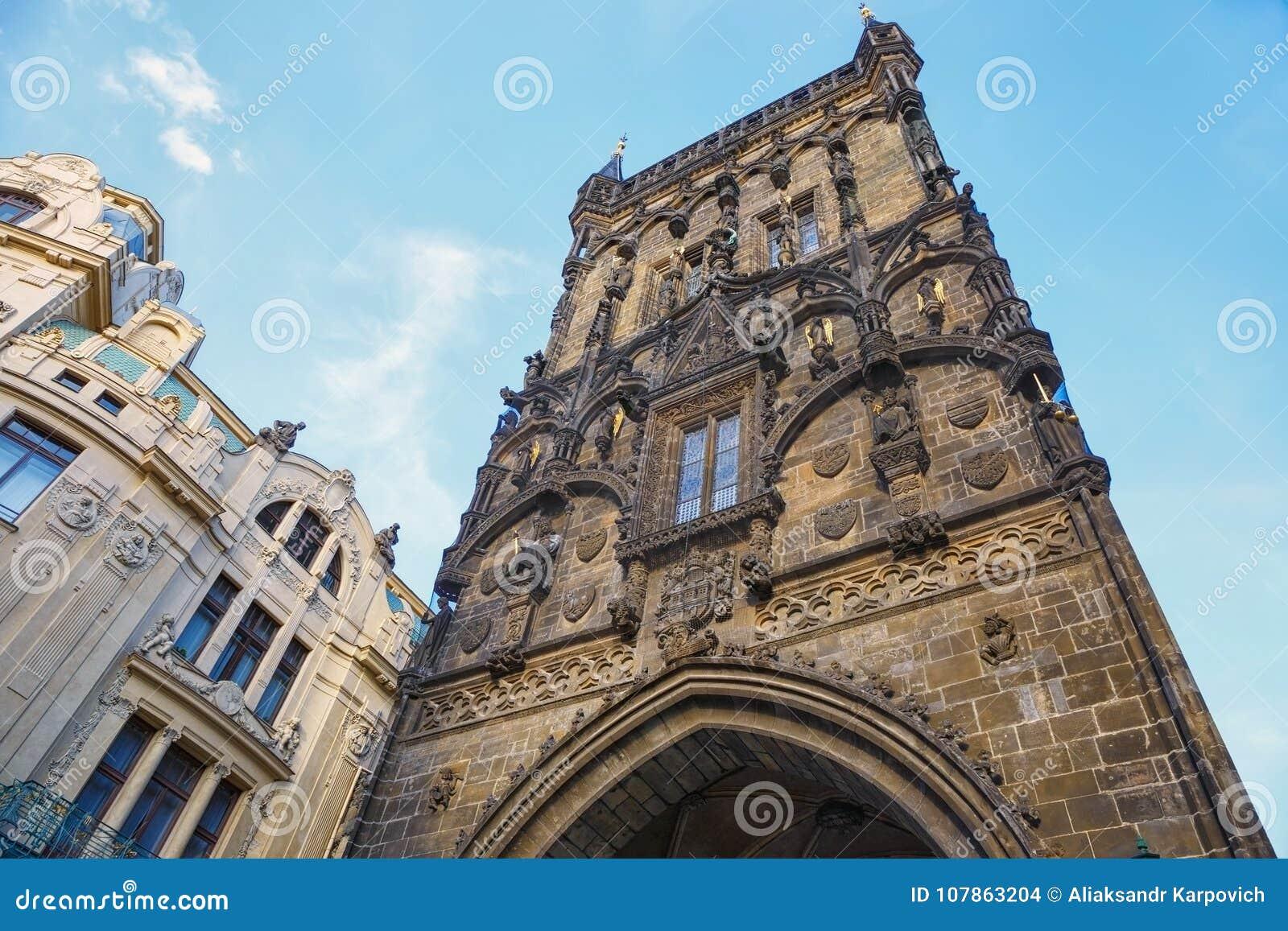 Torre del polvo de Praga República Checa