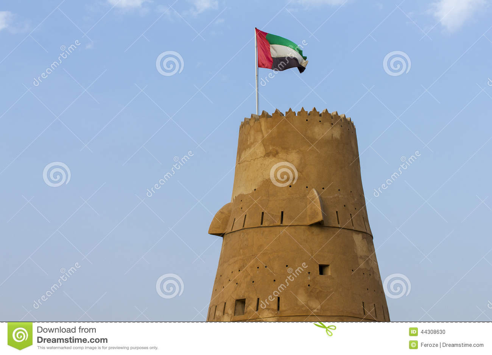 Torre del reloj en Ras Al Khaimah - United Arab Emirates