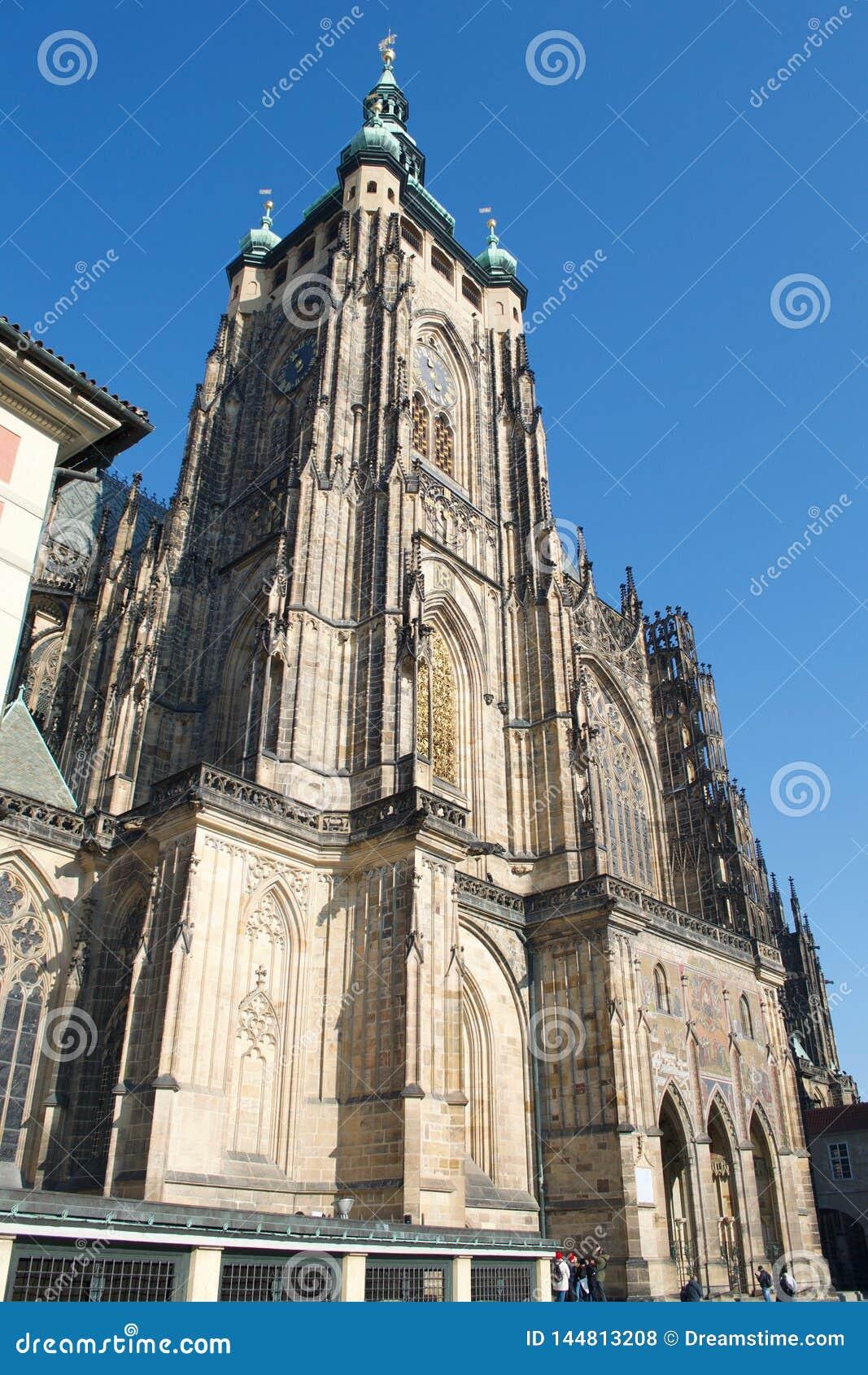 Torre del St Vitus Cathedral Prague Castle South