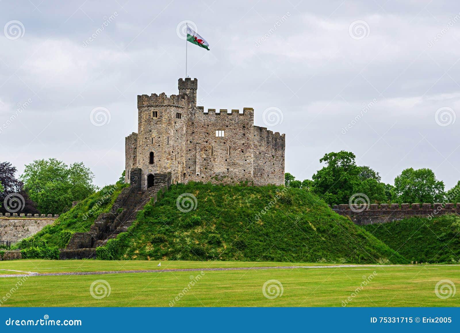Torre Dell'orologio Del Castello Di Cardiff A Cardiff In Galles Immagine  Stock - Immagine di aperto, famoso: 75331715