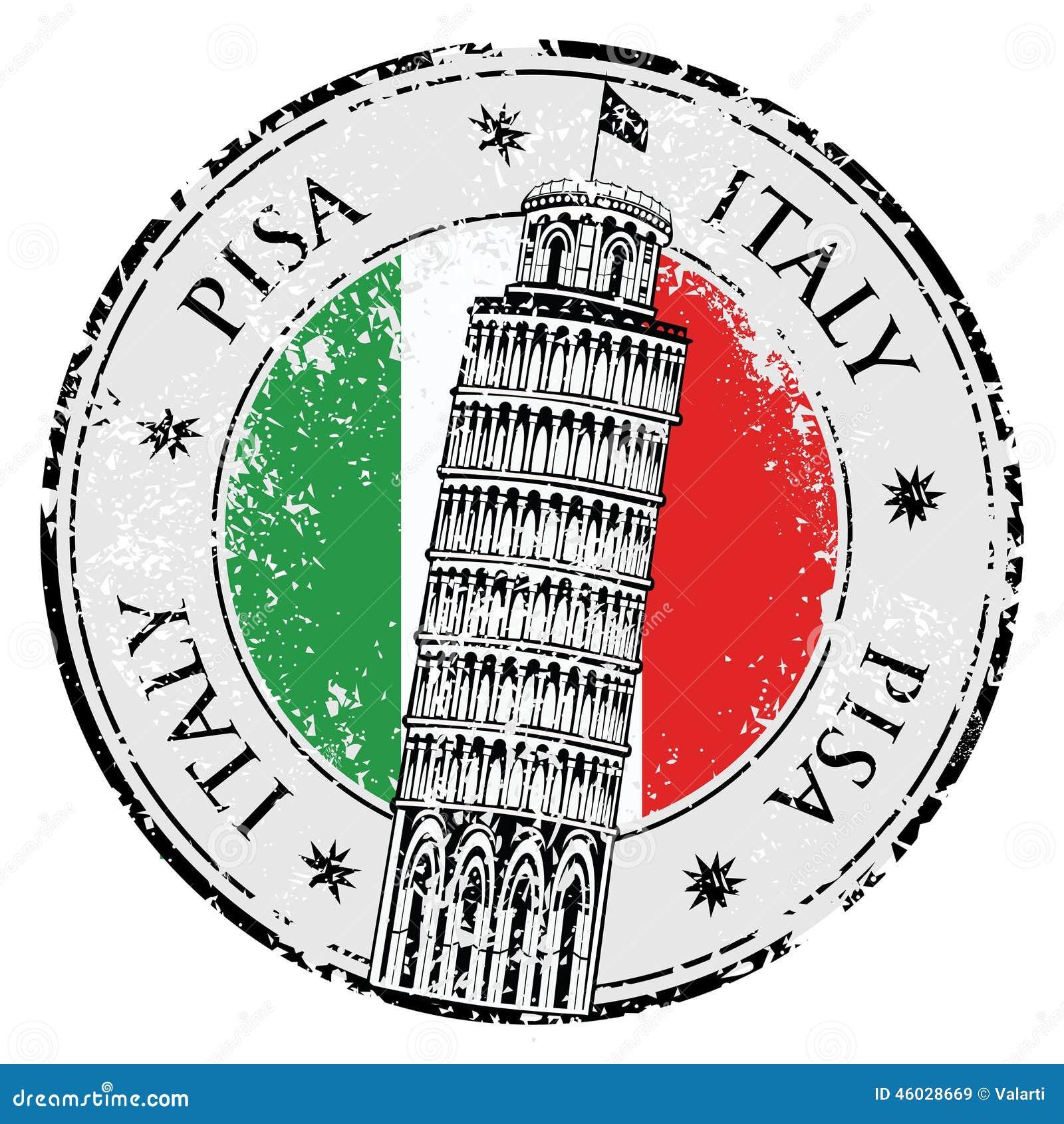 Torre di Pisa del bollo in Italia, vettore