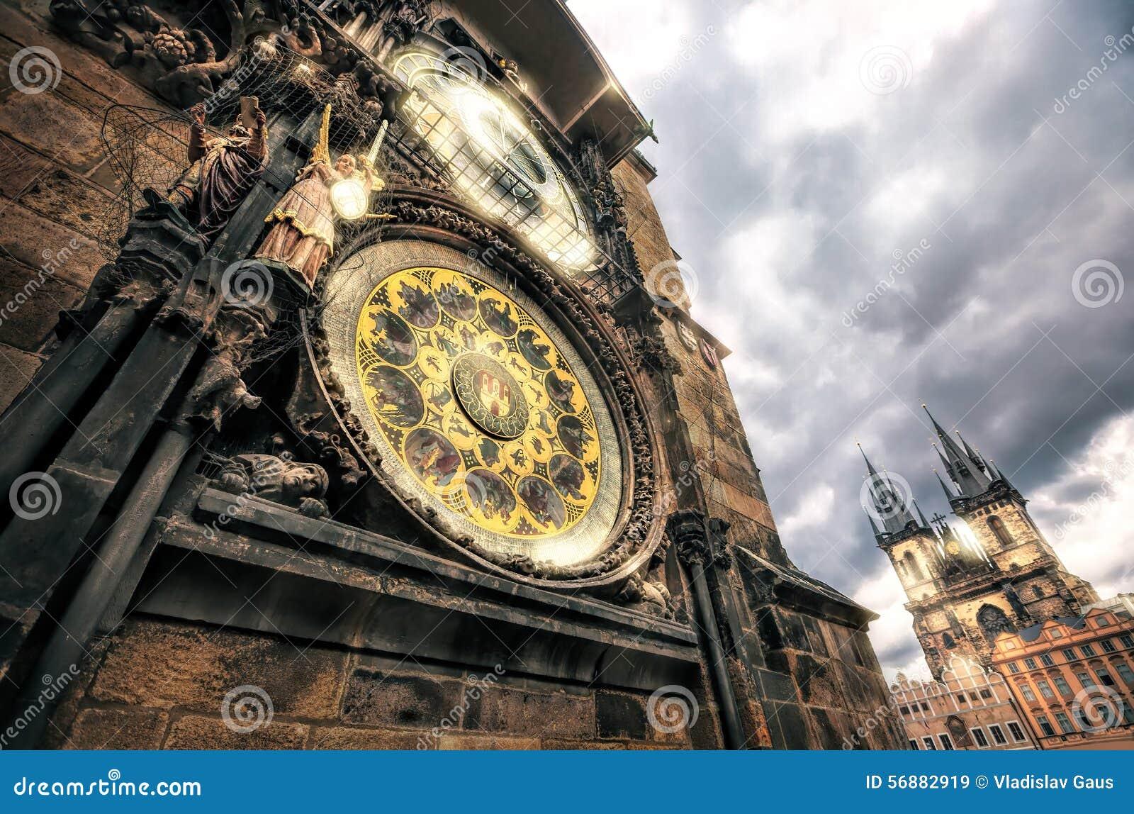 Torre di Praga ed orologio astronomico su Città Vecchia Corridoio