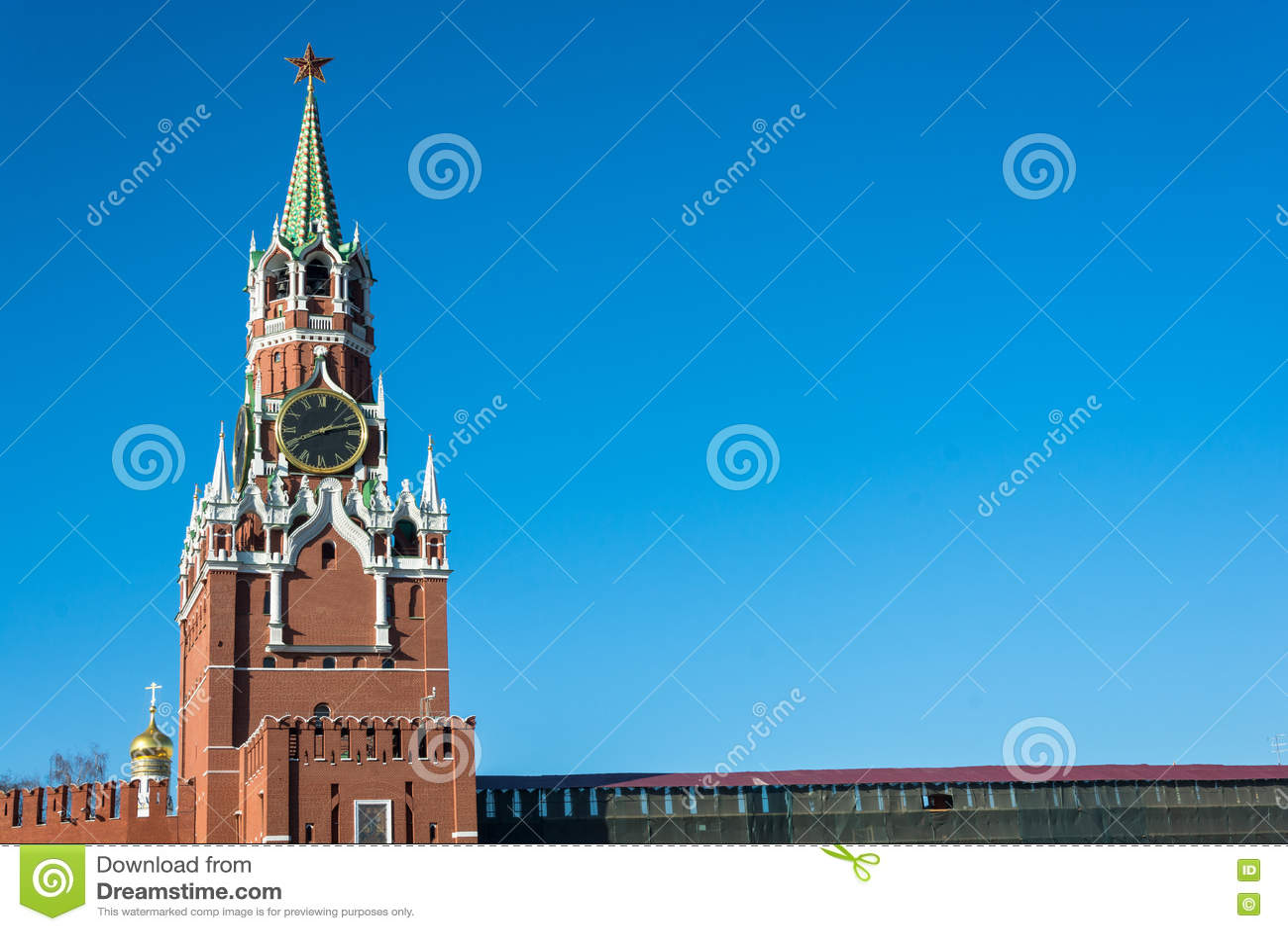 Torre di Spasskaya del Cremlino di Mosca