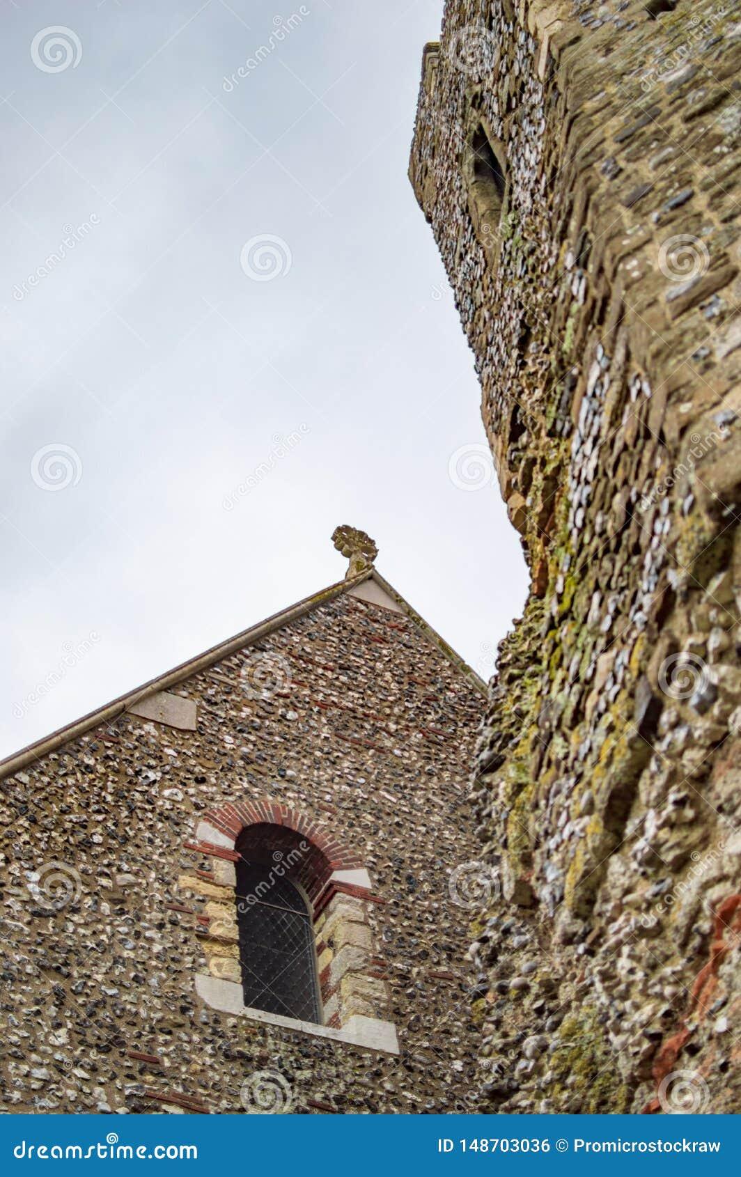 A torre do castelo de D?var em kent Reino Unido