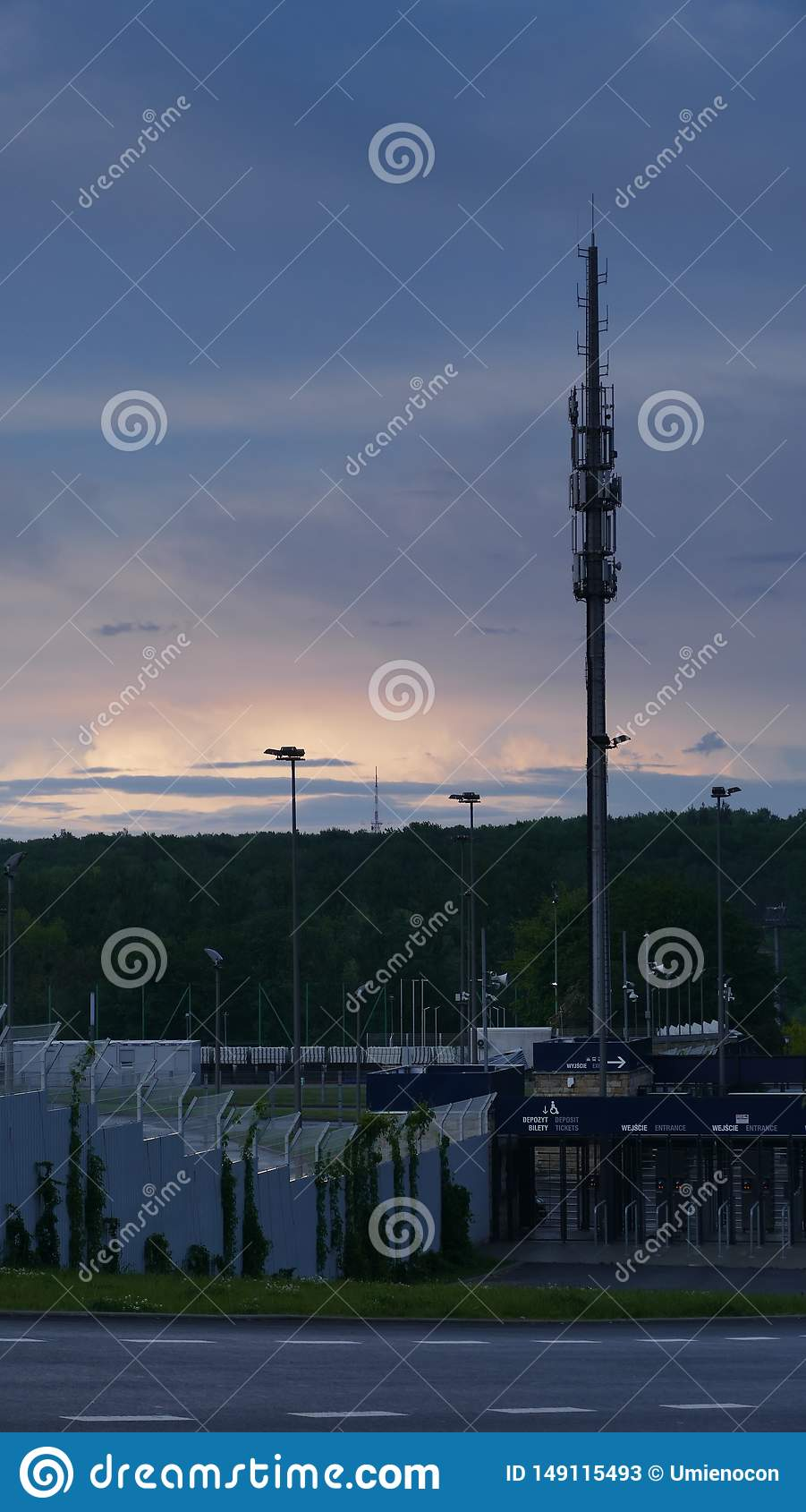Torre do rel? do teletransmiss?o