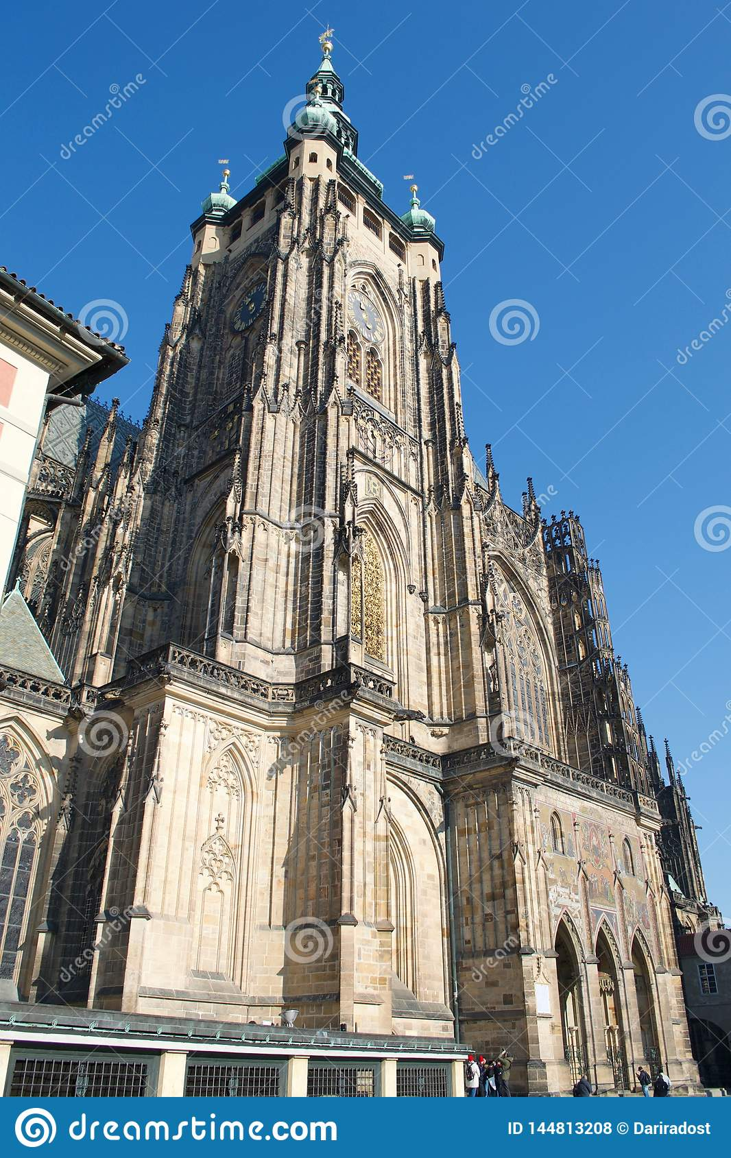 Torre do St Vitus Cathedral Prague Castle South