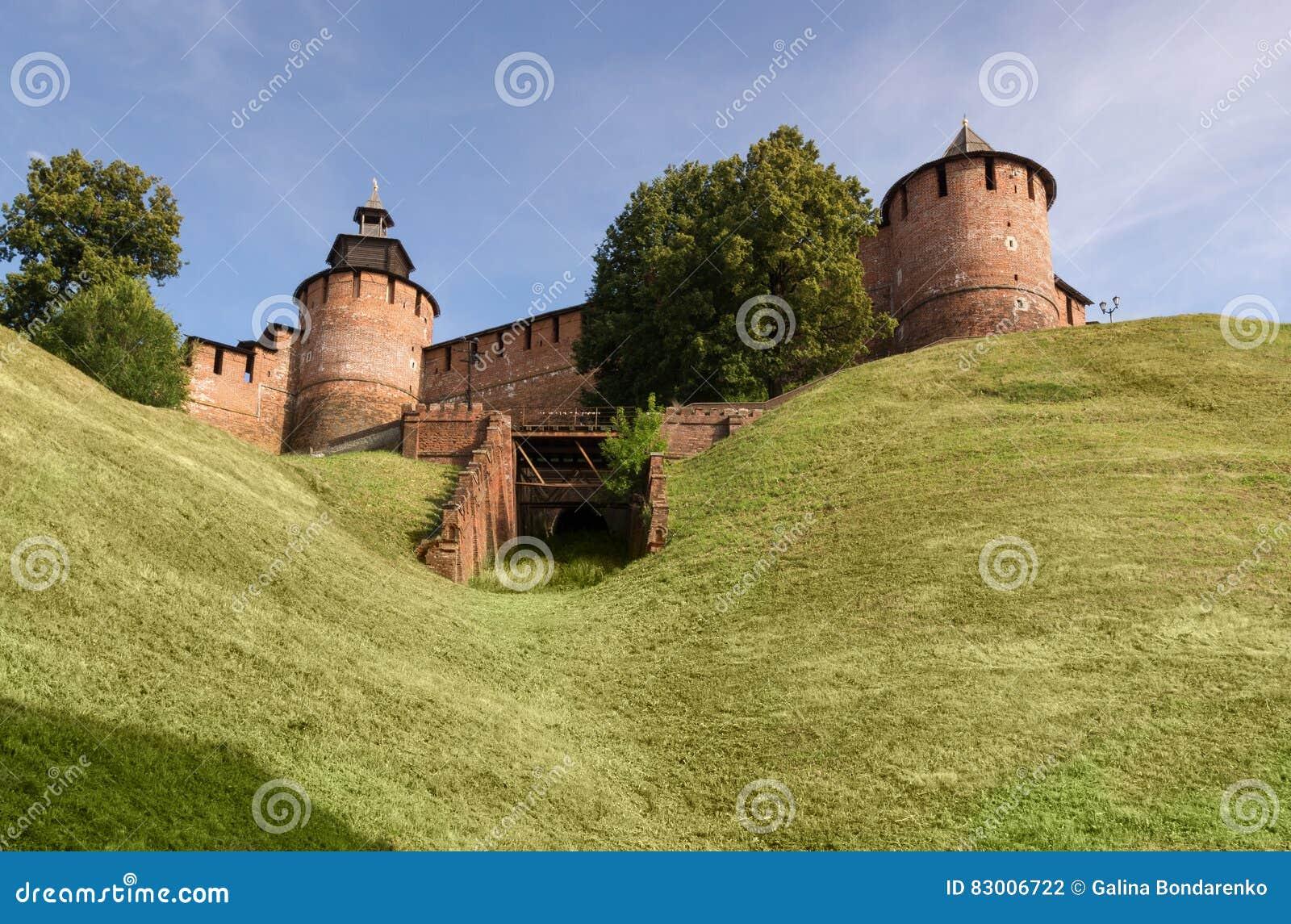 A torre e a parede do Kremlin
