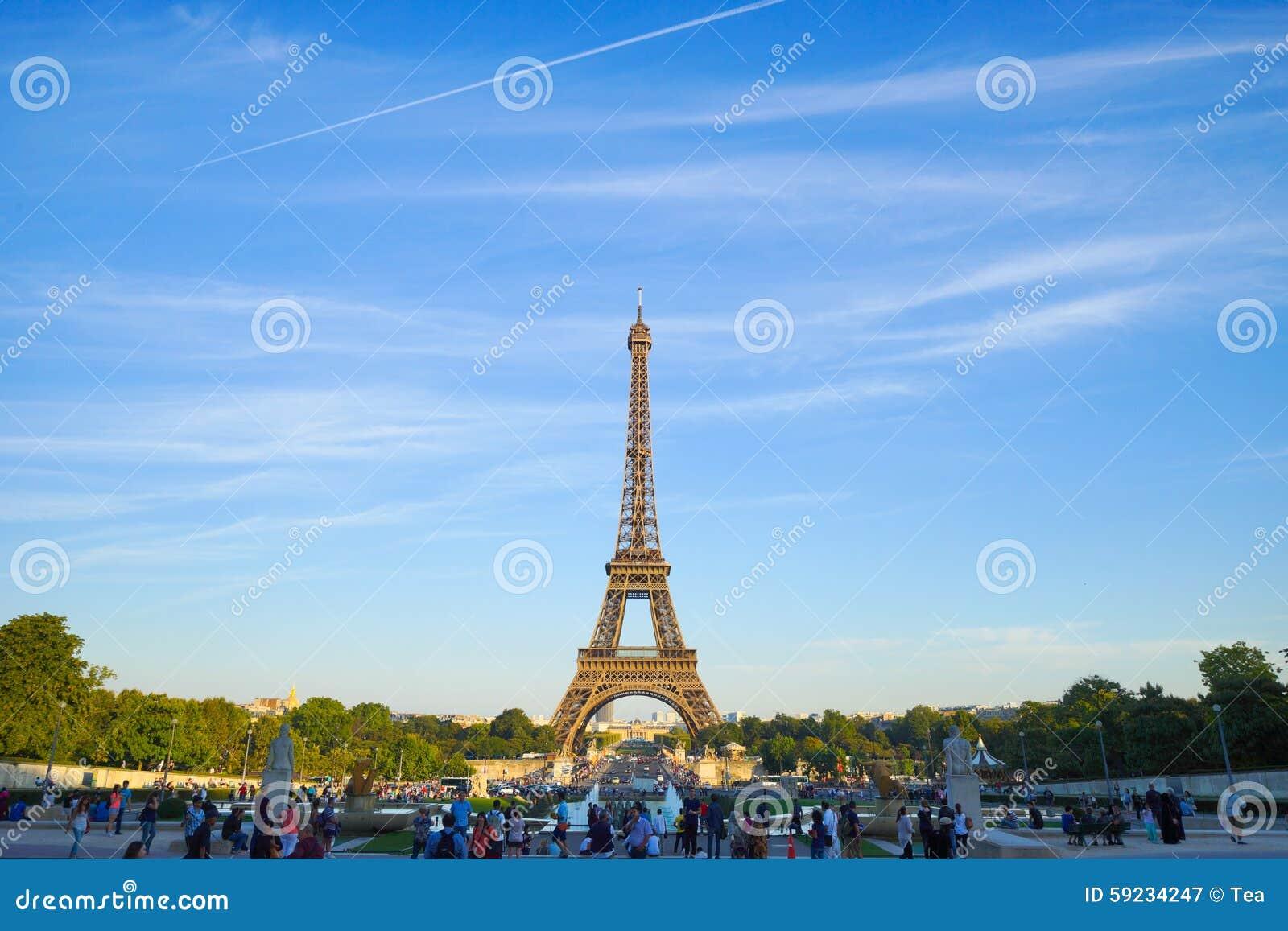 Download Torre Eiffel fotografía editorial. Imagen de belleza - 59234247