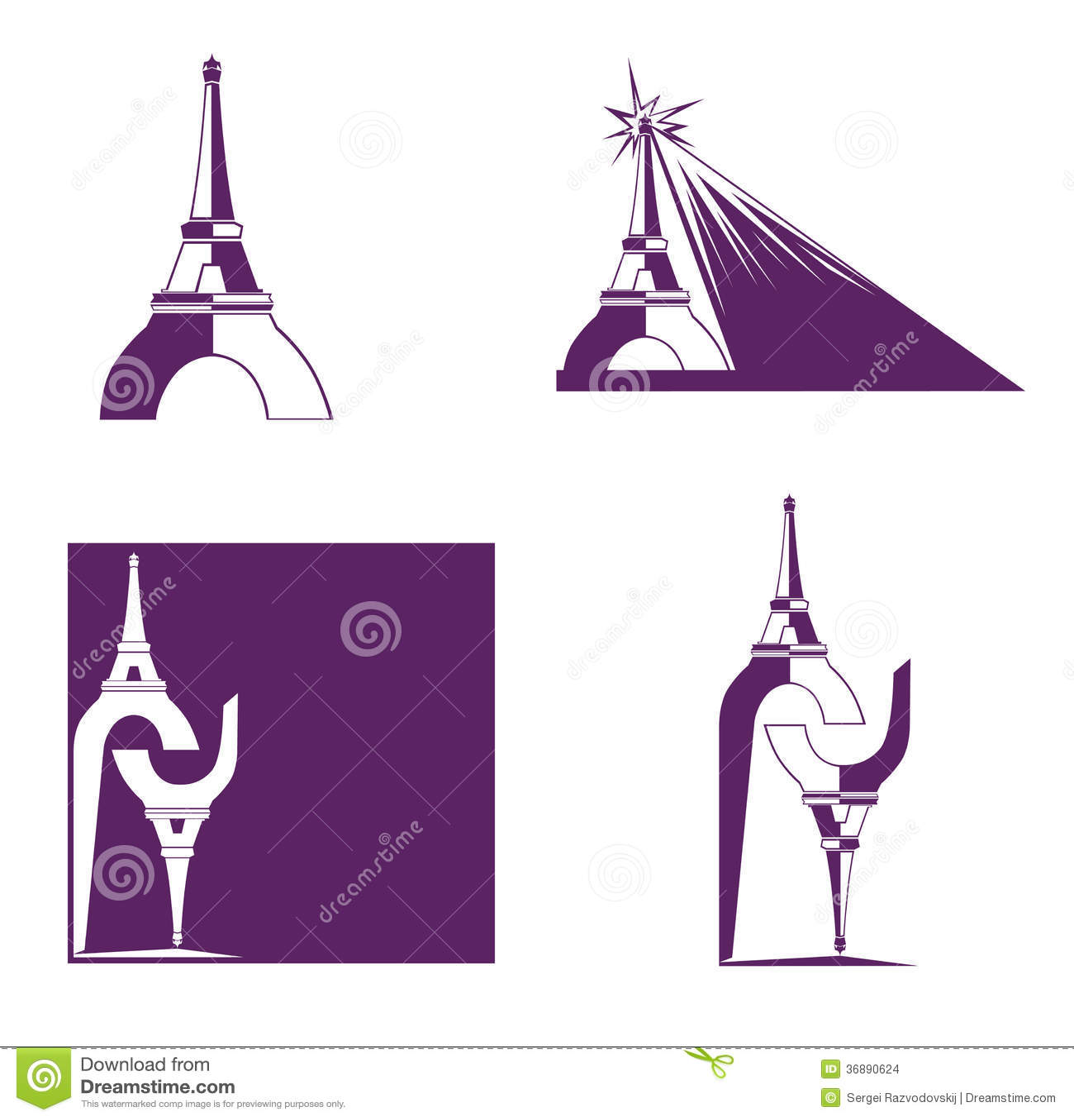 Download Torre Eiffel astratta illustrazione vettoriale. Illustrazione di architettura - 36890624