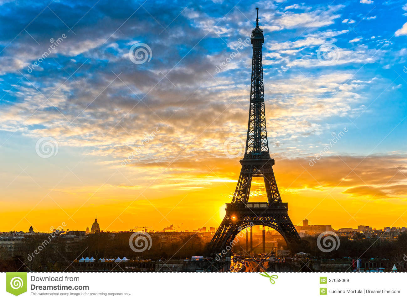 torre eiffel no nascer do sol paris imagem de stock imagem de historic alvorecer 37058069. Black Bedroom Furniture Sets. Home Design Ideas