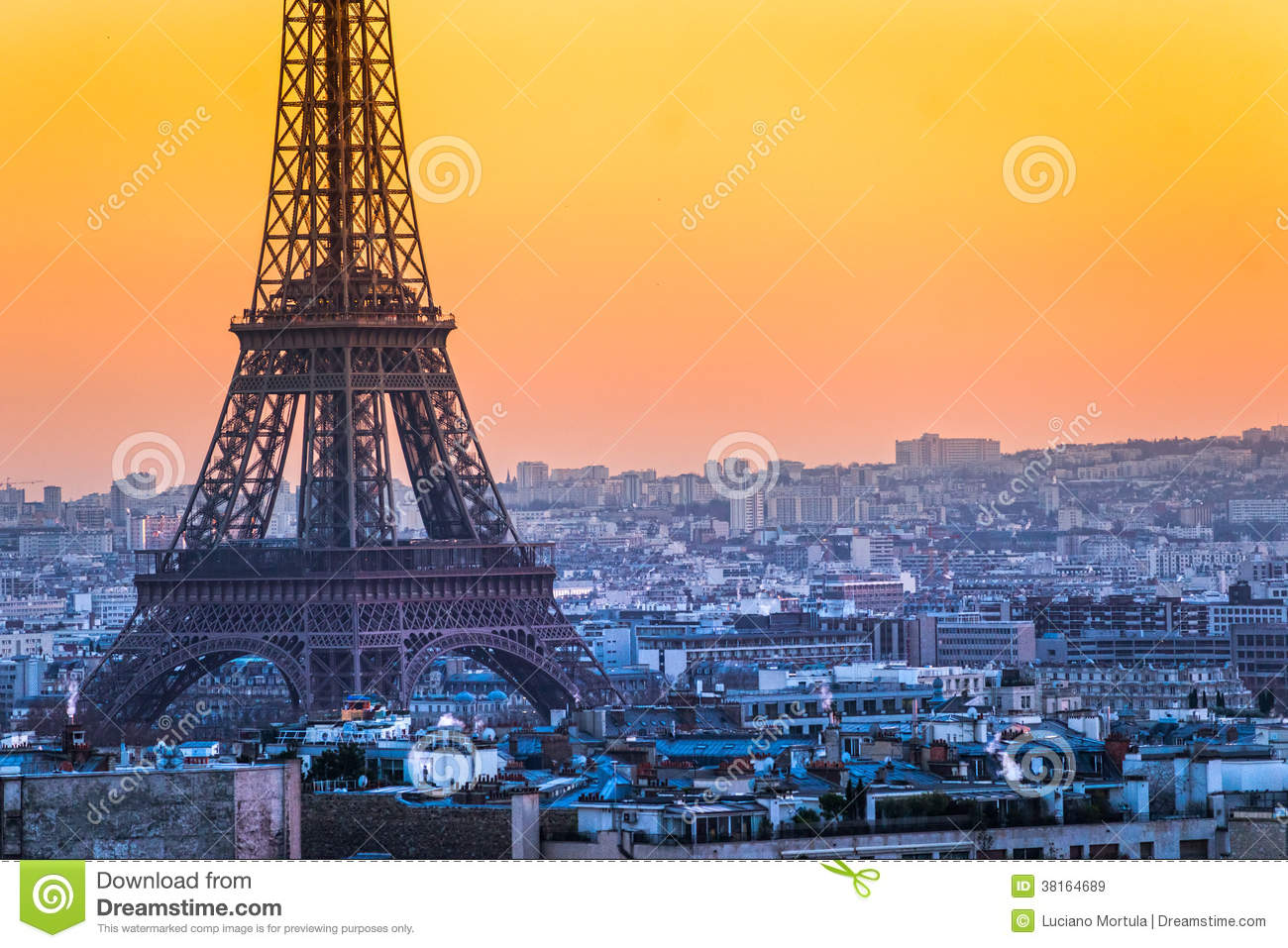 torre eiffel no nascer do sol paris imagens de stock royalty free imagem 38164689. Black Bedroom Furniture Sets. Home Design Ideas