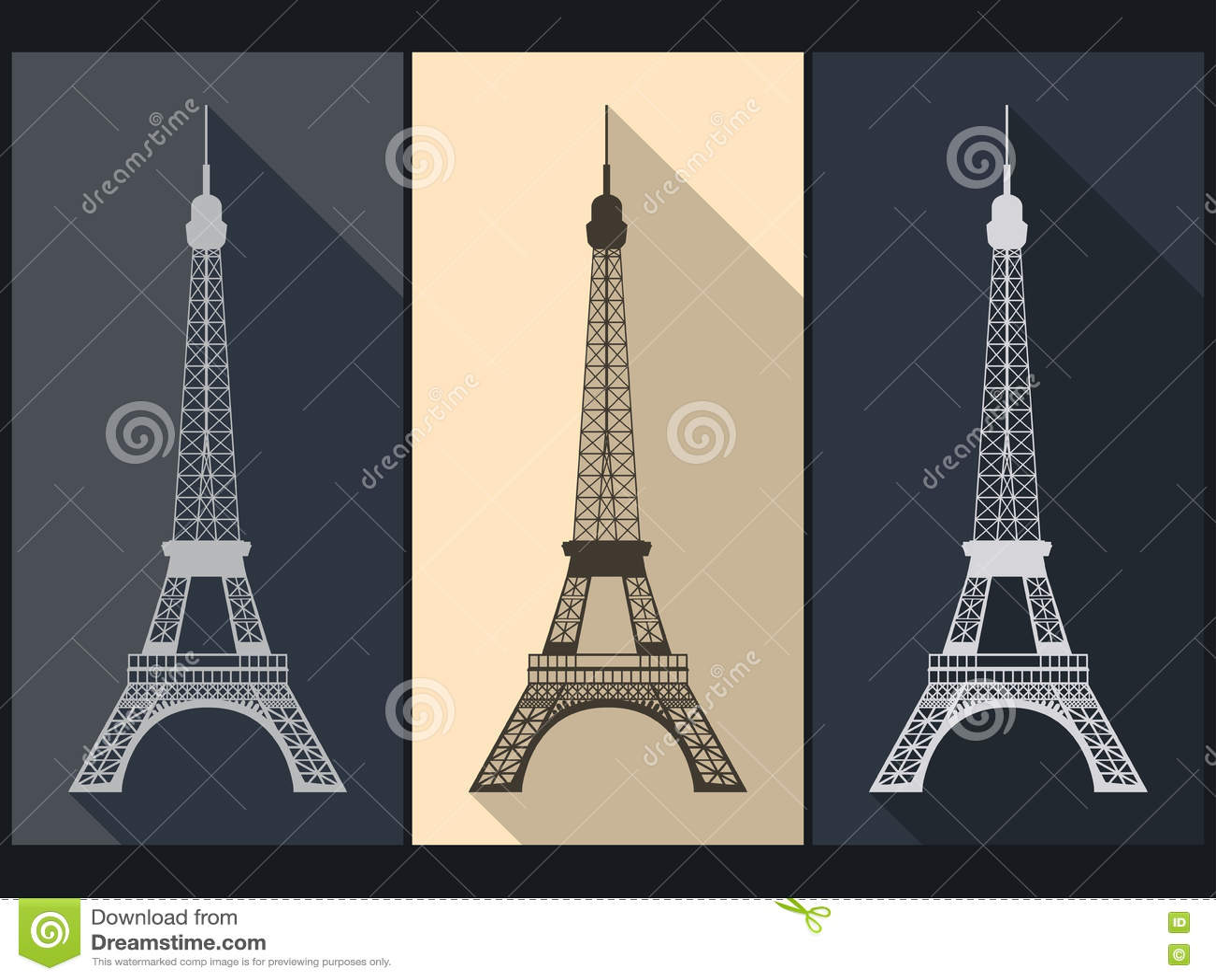 Torre Eiffel Objeto Aislado París Vector Ilustración del Vector