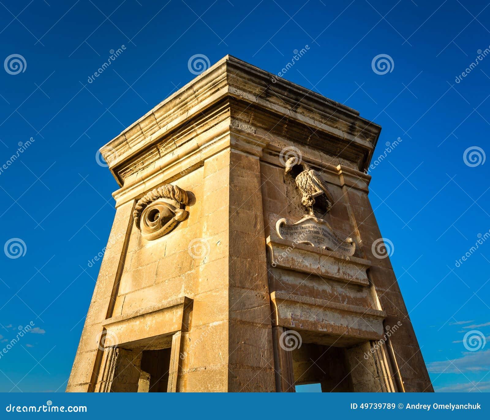 Torre fortificata nei giardini di gardjola fotografia for Laghetti nei giardini