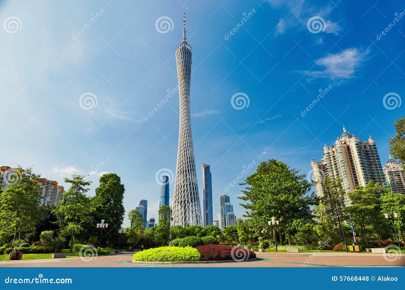 Torre Guangzhou China del cantón