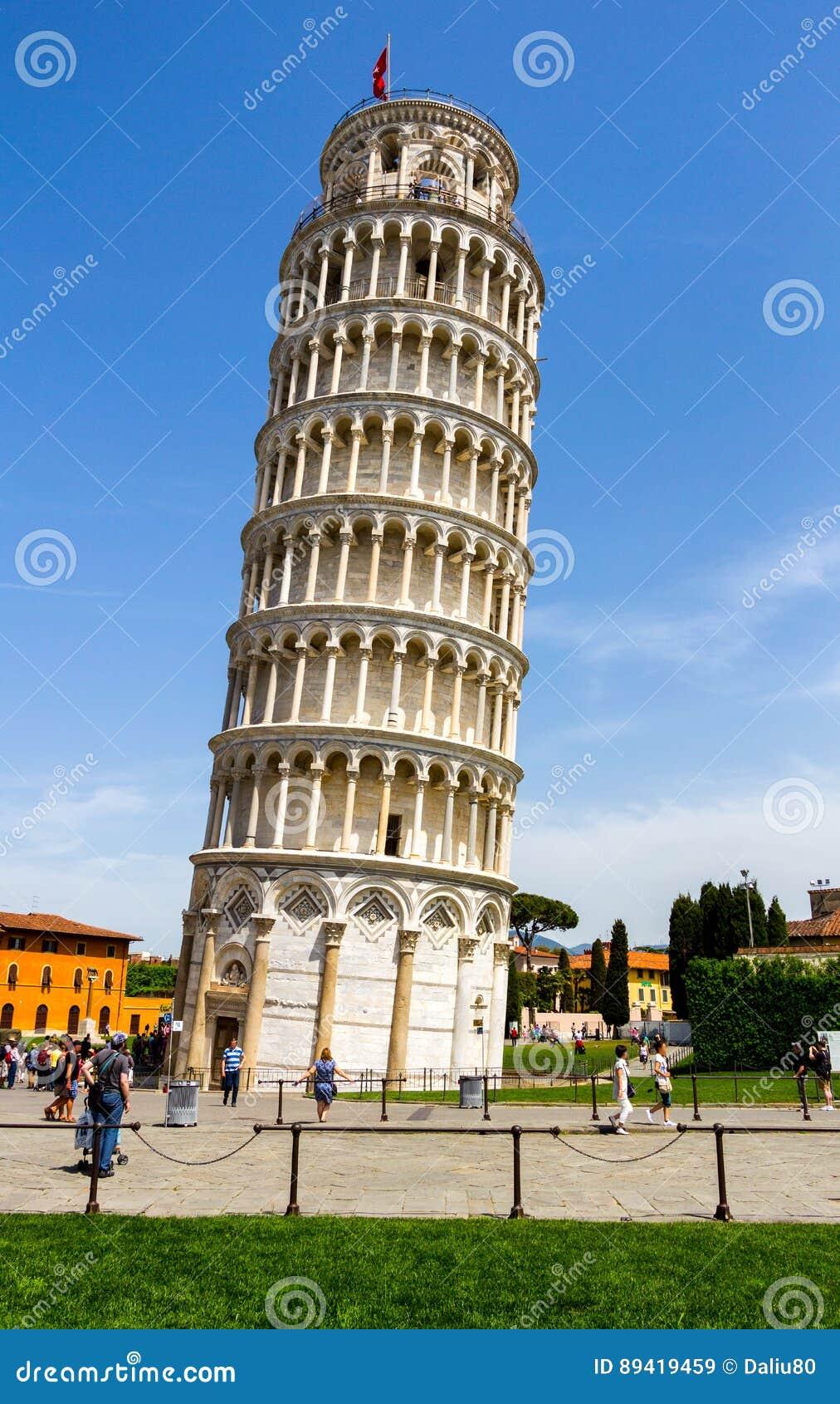 A torre inclinada de Pisa é o campanile, ou sino autônomo