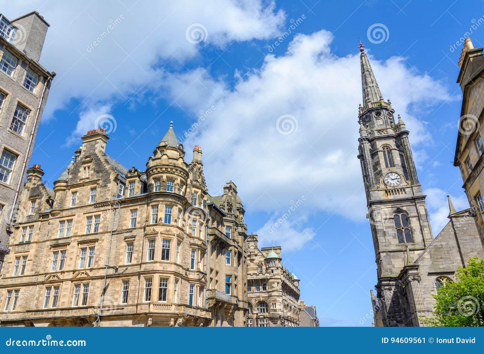 Torre o do marco de Tron Kirk-Edimburgo, Escócia, Reino Unido
