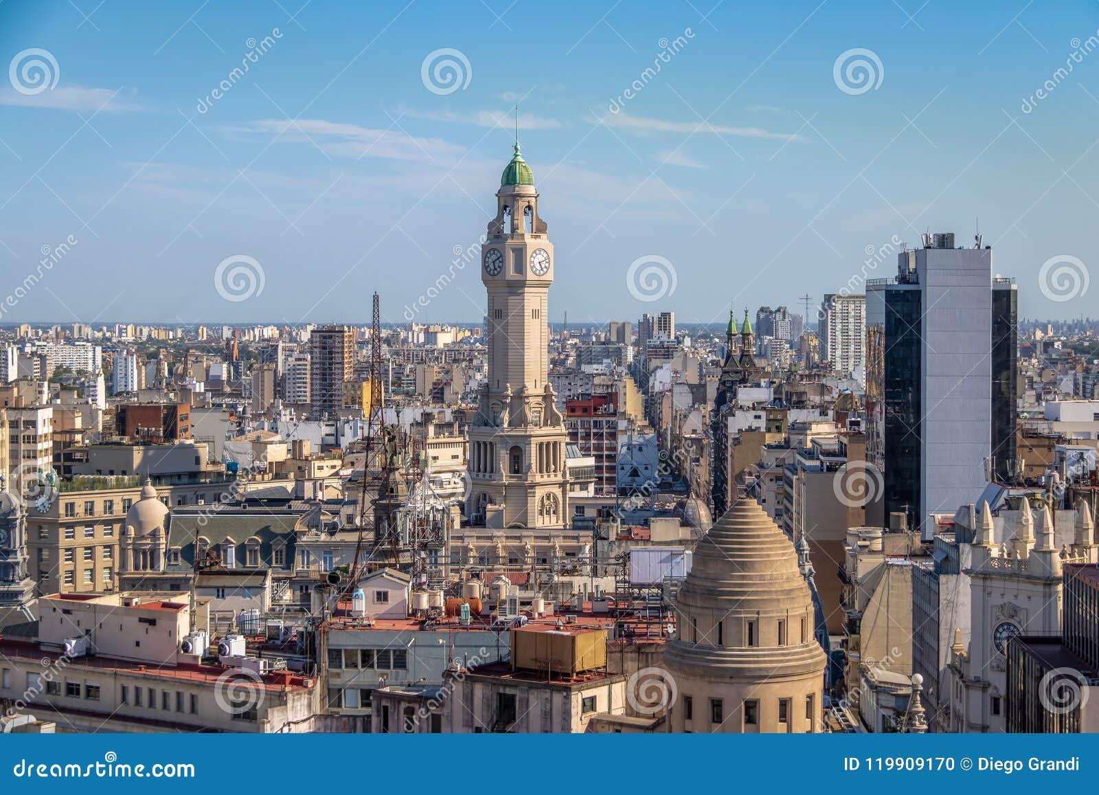 Torre y visión aérea céntrica - Buenos Aires, la Argentina de la legislatura de la ciudad de Buenos Aires